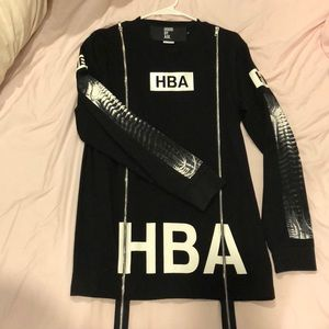 HBA Hood By Air double zipper hoodie